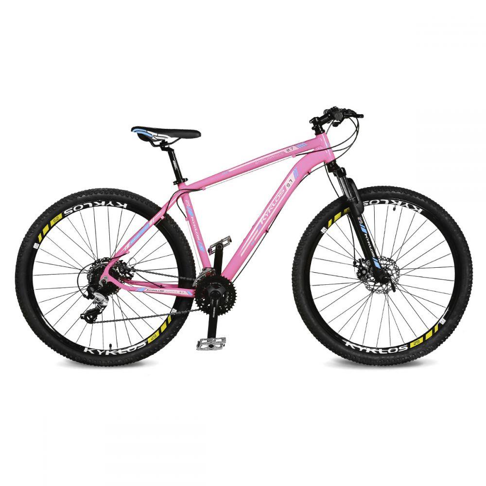 Bicicleta Aro 29 Endurance 9.7 24v Rosa/azul Kyklos