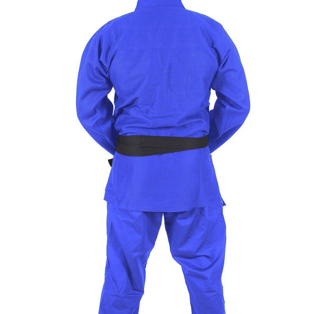 Kimono Jiu Jitsu Mks Combat Azul-a4