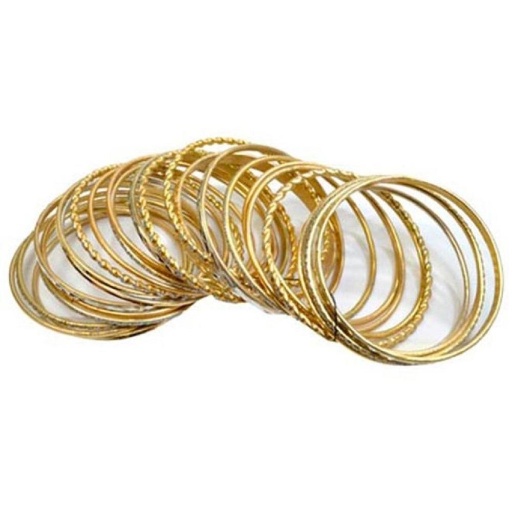 Pulseiras Mix Bangles Golden Originais Trevisan Concept