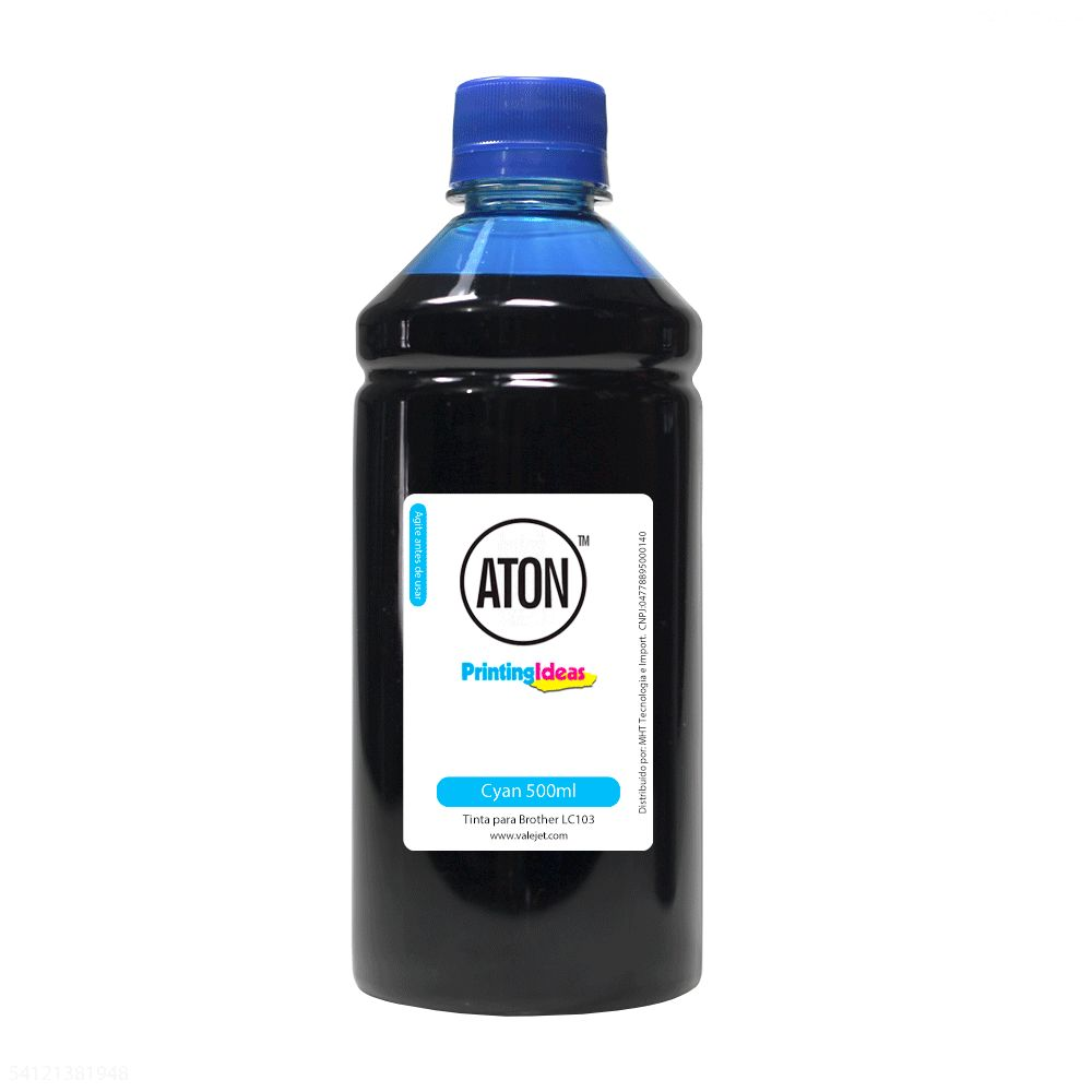 Tinta para Cartucho Brother LC103 Aton Ciano 500 ml Corante