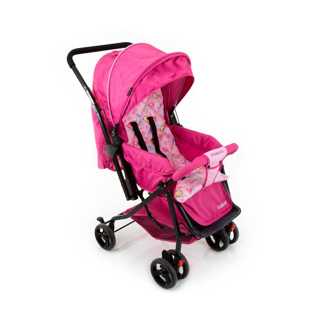 Carrinho de Bebê Happy Cosco Rosa