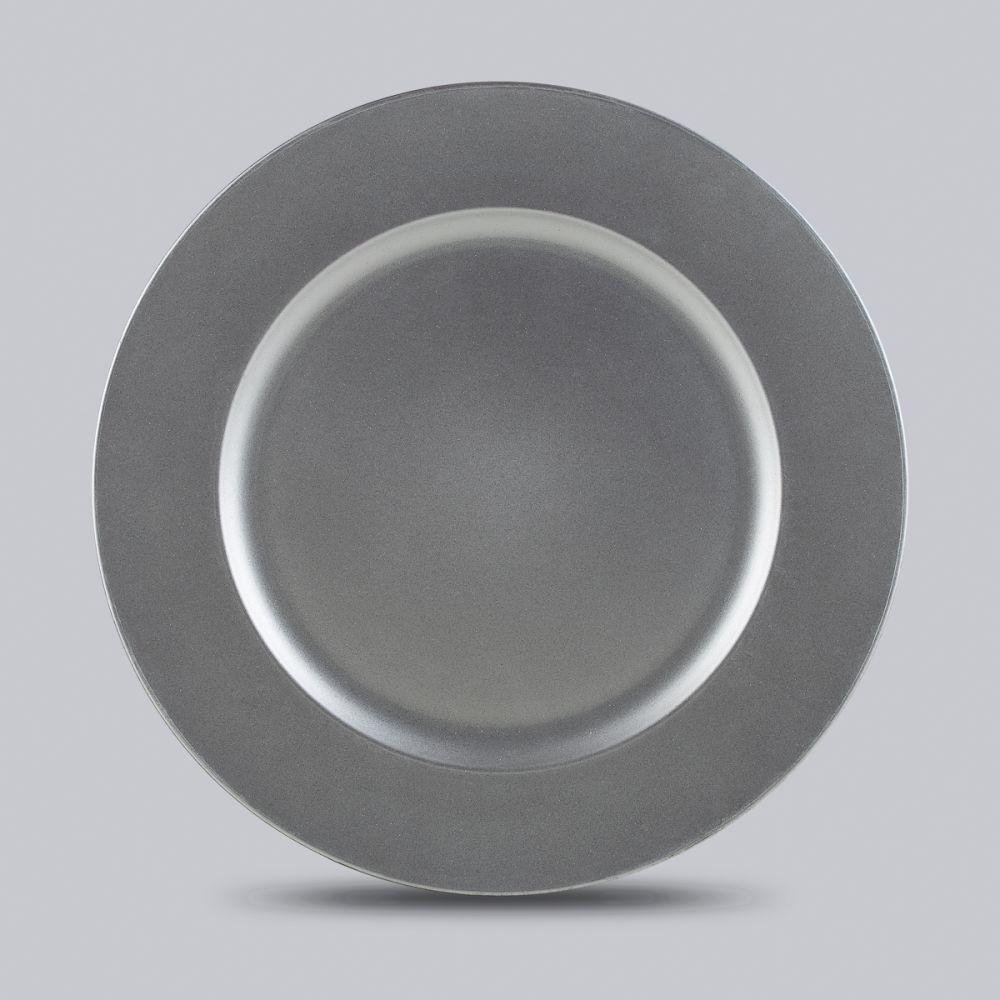 Conjunto de 6 Sousplats Prateados - Bon Gourmet