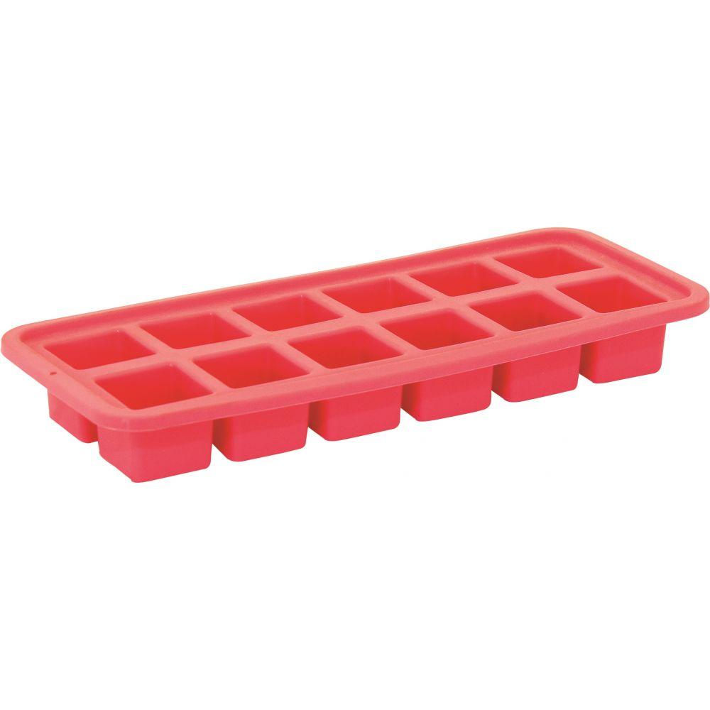 Forma para 12 Cubos de Gelo Vermelha -Mimo Ltda