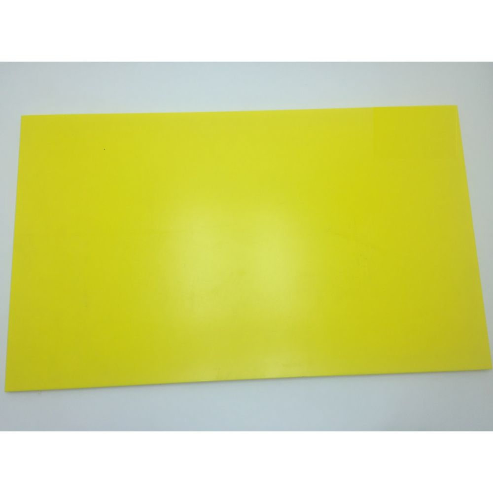 Tabua De Corte Lisa Em Polietileno - Amarela - 33 X 25