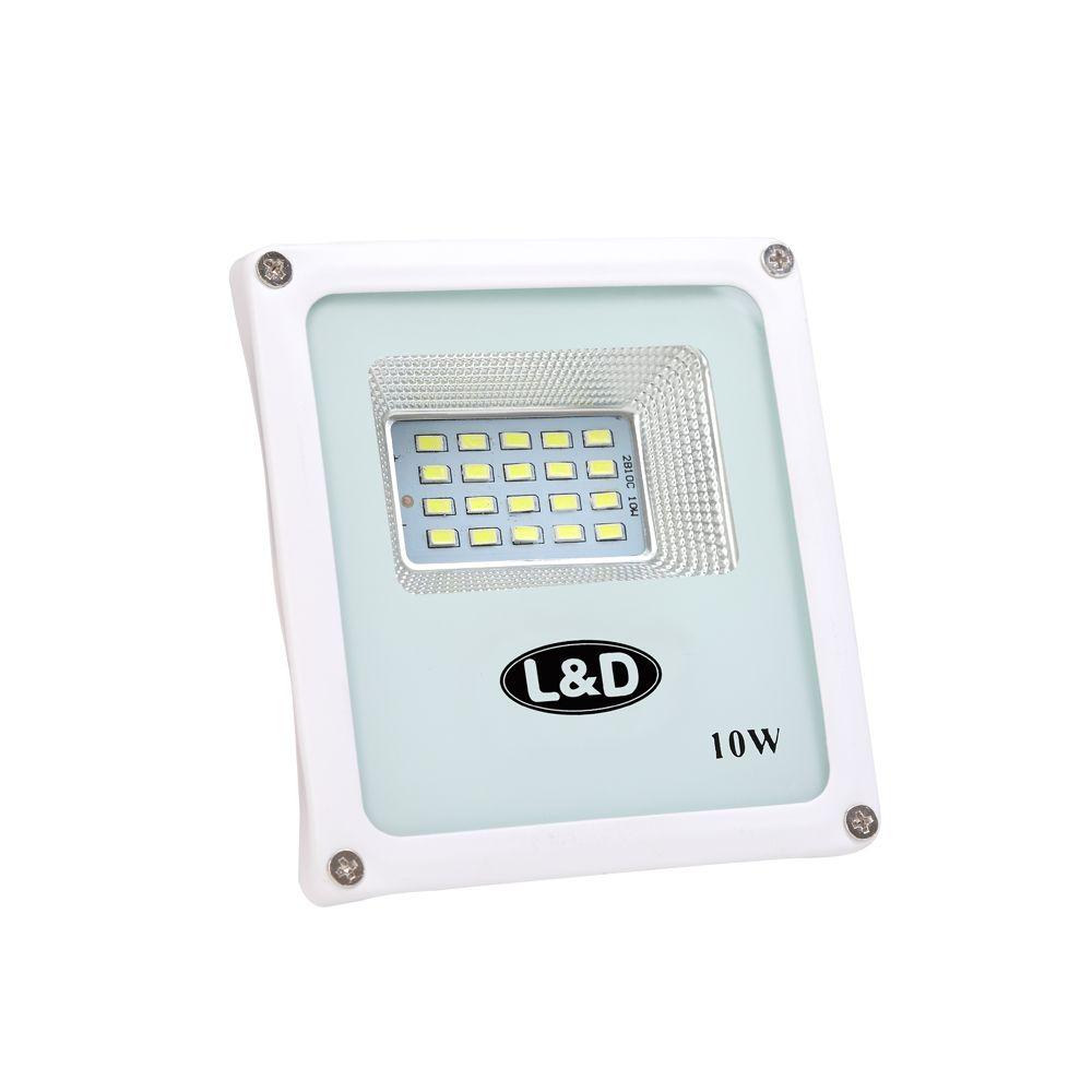 Refletor Micro LED 10W 6500K Branco Frio L&D Bivolt