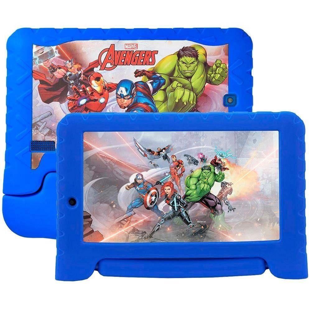 """Tablet Infantil Nb307 Disney Avengers Plus 16GB 7"""" Azul Multilaser"""