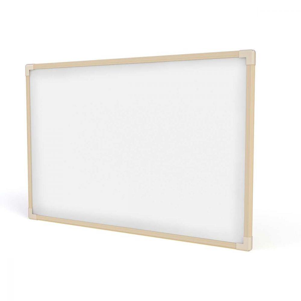 Quadro Branco Moldura Madeira 100x070cm Neo