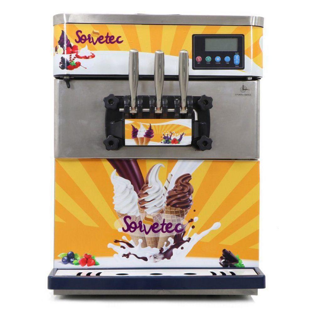 Máquina Sorvete Açaí Frozen Yogurt com Conservação Noturna