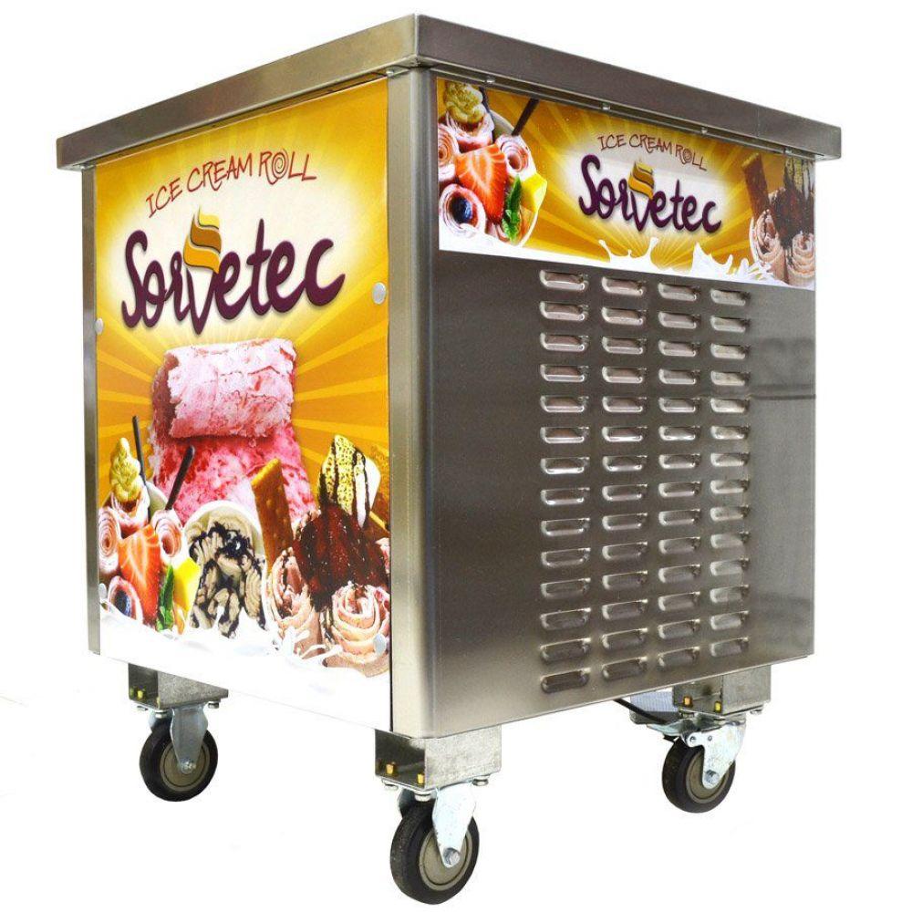 Máquina de Sorvete na Chapa Ice Cream Roll Sorvetec